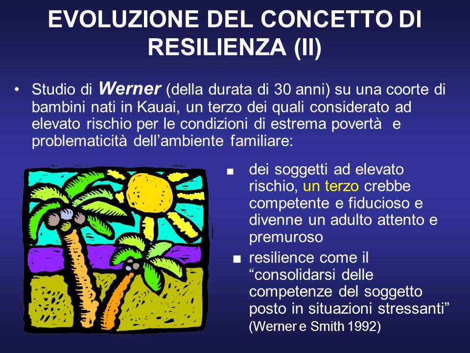 EVOLUZIONE DEL CONCETTO DI RESILIENZA (II)