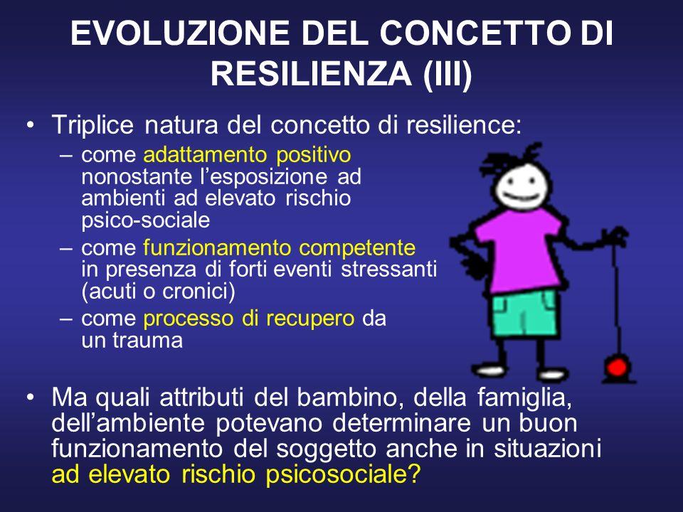 EVOLUZIONE DEL CONCETTO DI RESILIENZA (III)