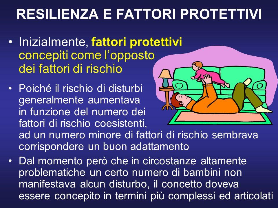 RESILIENZA E FATTORI PROTETTIVI