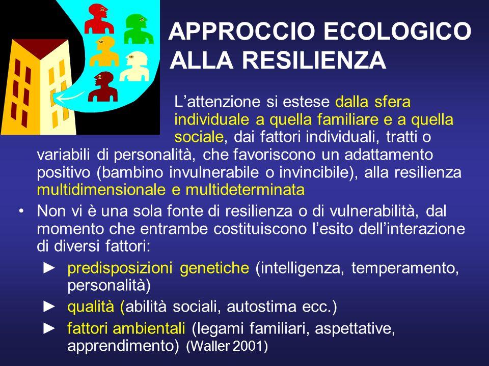 APPROCCIO ECOLOGICO ALLA RESILIENZA