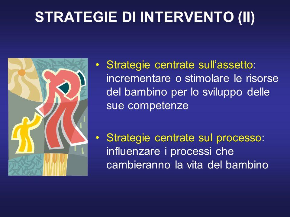 STRATEGIE DI INTERVENTO (II)