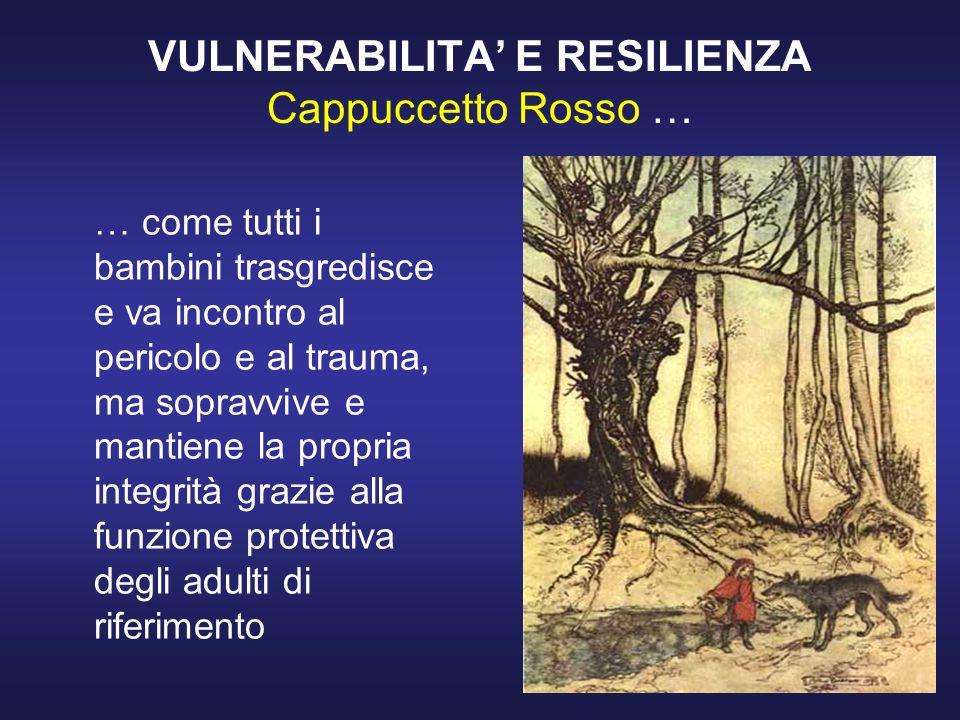 VULNERABILITA' E RESILIENZA Cappuccetto Rosso …