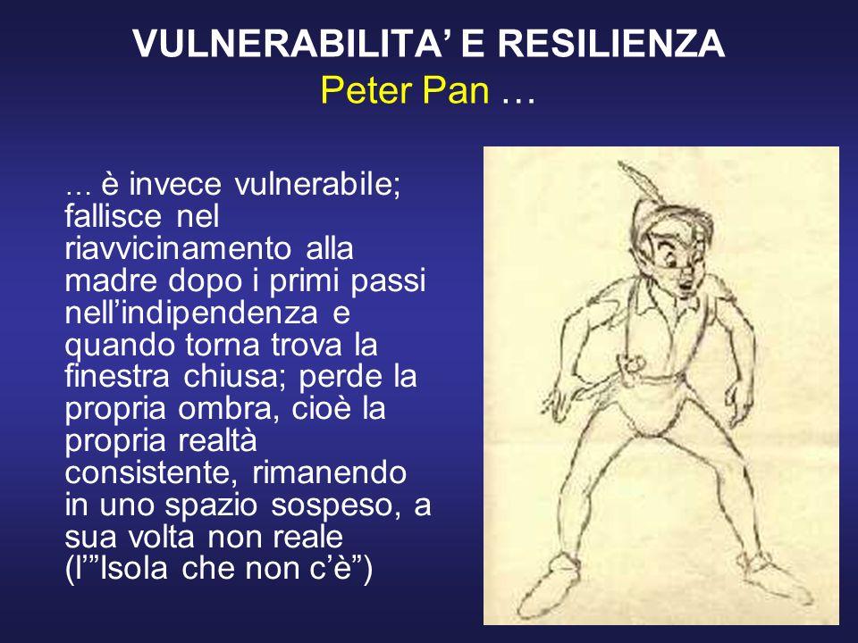VULNERABILITA' E RESILIENZA Peter Pan …