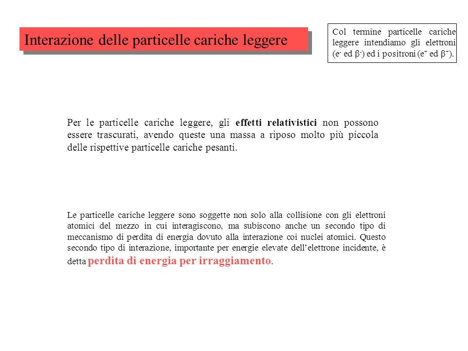 Interazione delle particelle cariche leggere