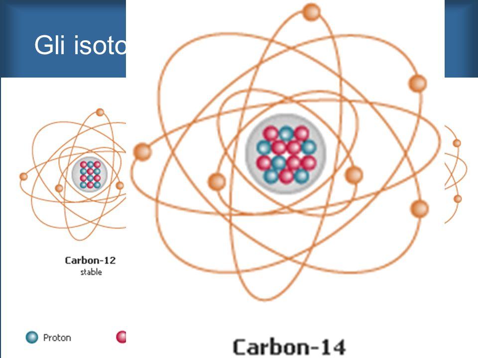 Gli isotopi del carbonio di interesse