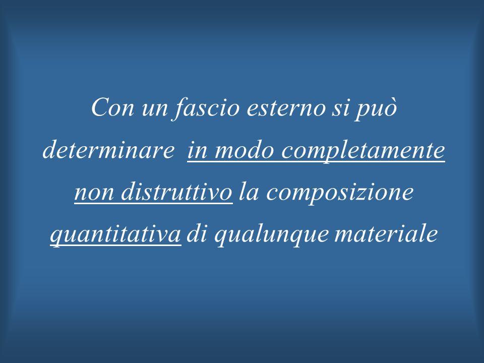 Con un fascio esterno si può determinare in modo completamente non distruttivo la composizione quantitativa di qualunque materiale
