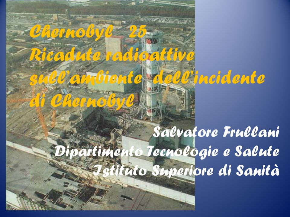 Ricadute radioattive sull'ambiente dell'incidente di Chernobyl
