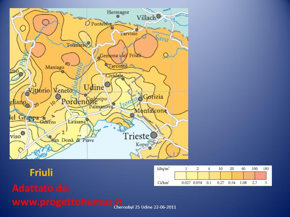 Friuli Adattato da: www.progettohumus.it Chernobyl 25 Udine 22-06-2011