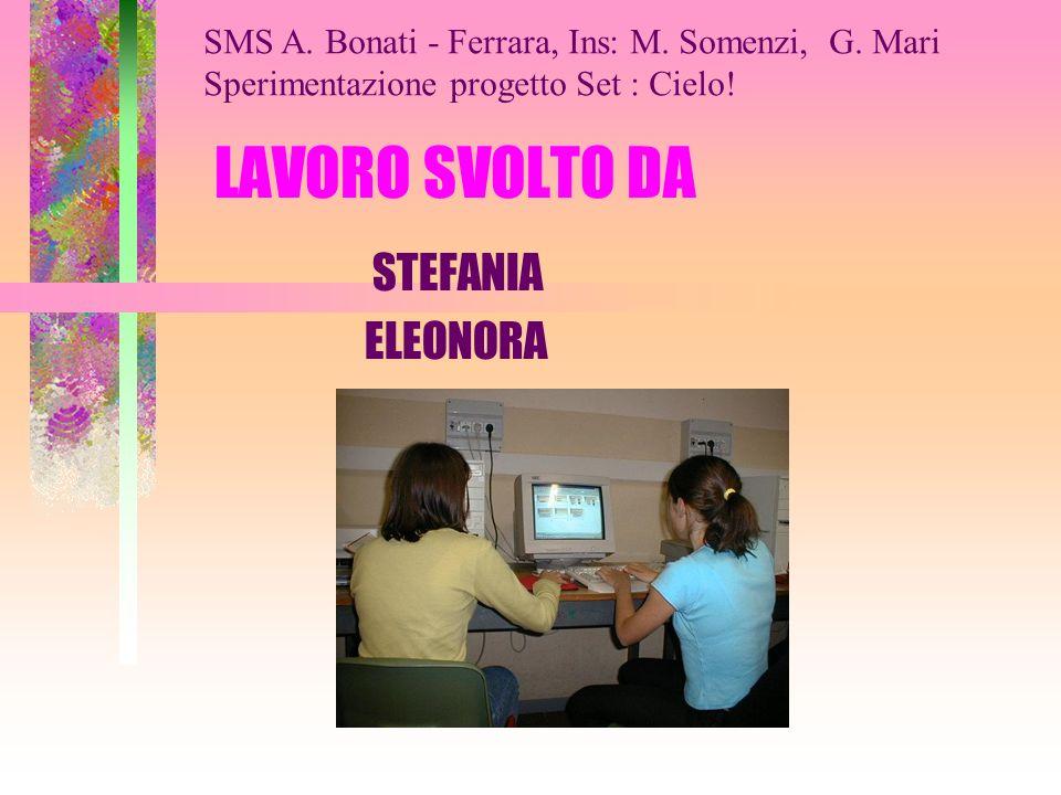 LAVORO SVOLTO DA STEFANIA ELEONORA