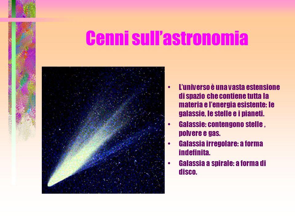 Cenni sull'astronomia