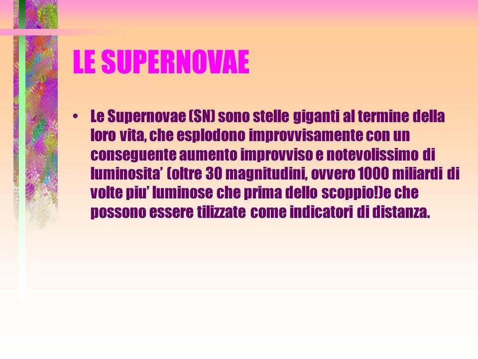 LE SUPERNOVAE