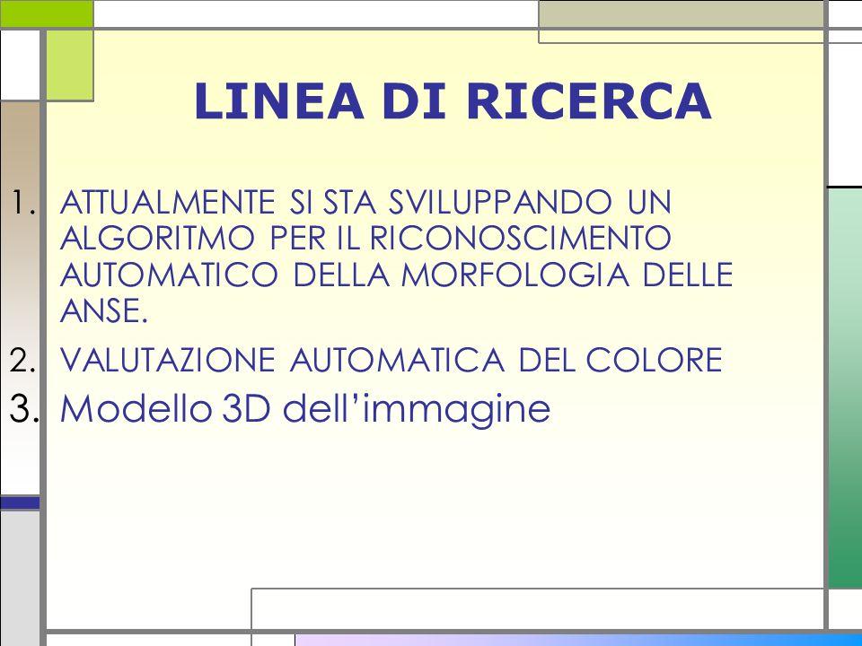 LINEA DI RICERCA Modello 3D dell'immagine