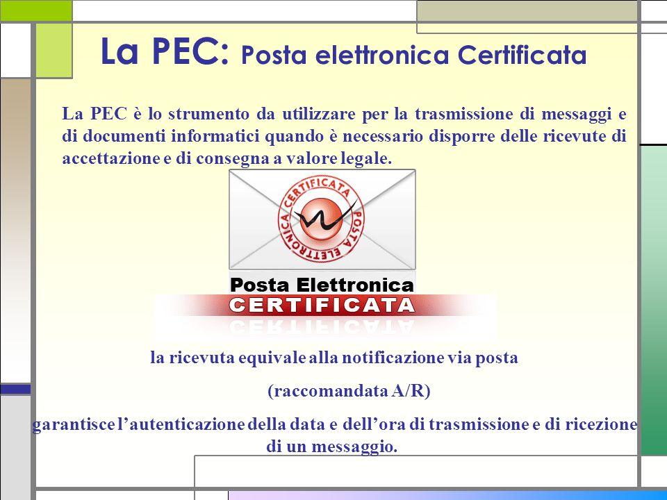 La PEC: Posta elettronica Certificata