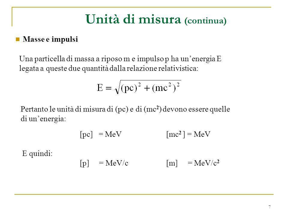 Unità di misura (continua)