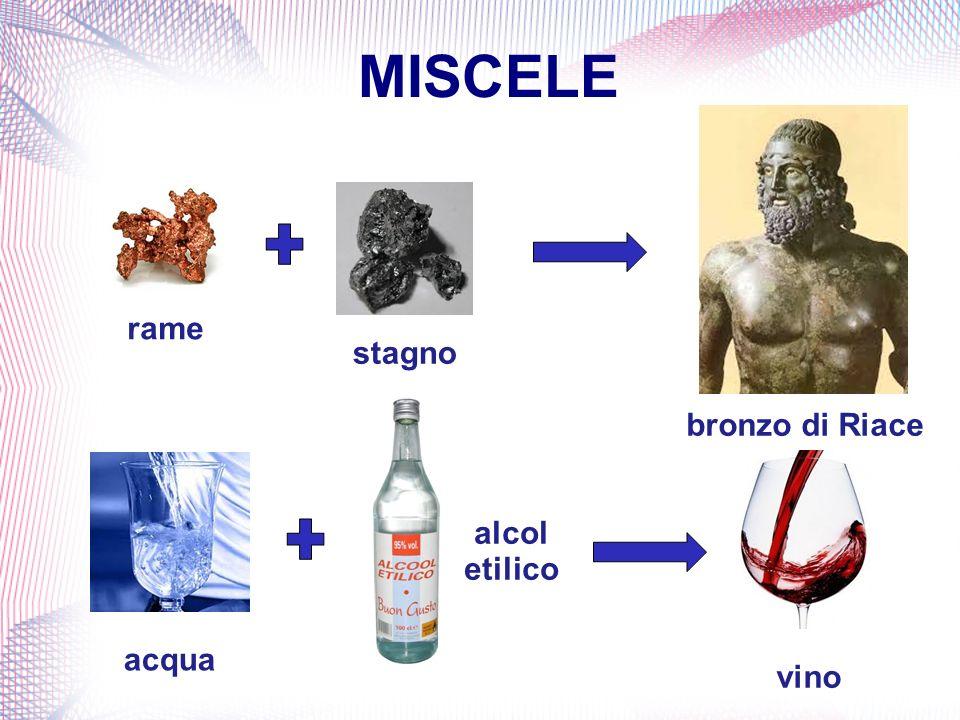 MISCELE rame stagno bronzo di Riace alcol etilico acqua vino
