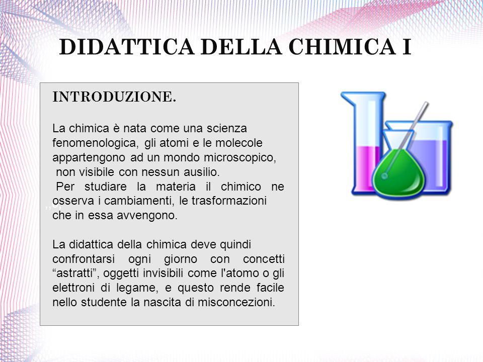 DIDATTICA DELLA CHIMICA I