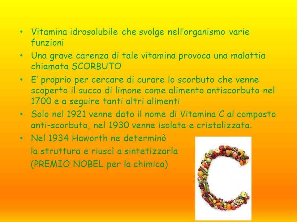 Vitamina idrosolubile che svolge nell'organismo varie funzioni