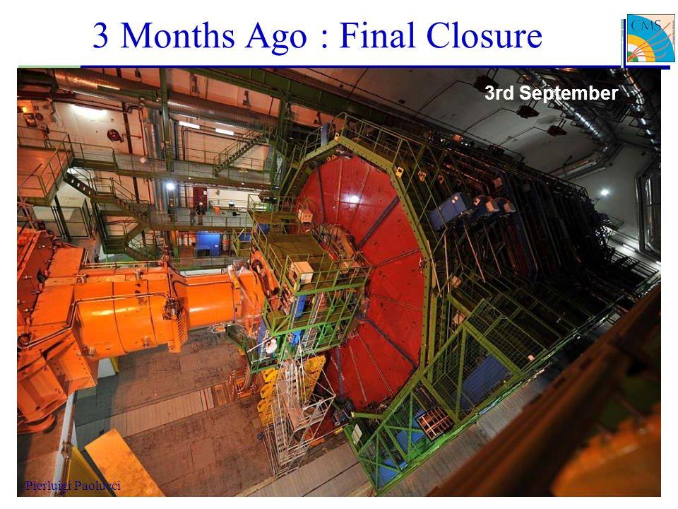 3 Months Ago : Final Closure