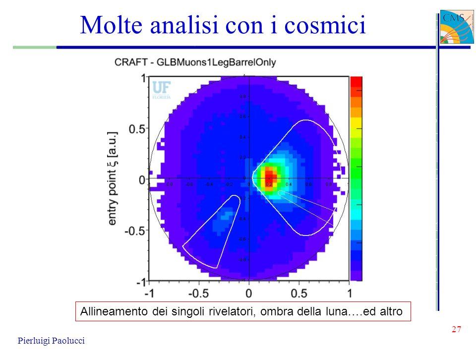 Molte analisi con i cosmici