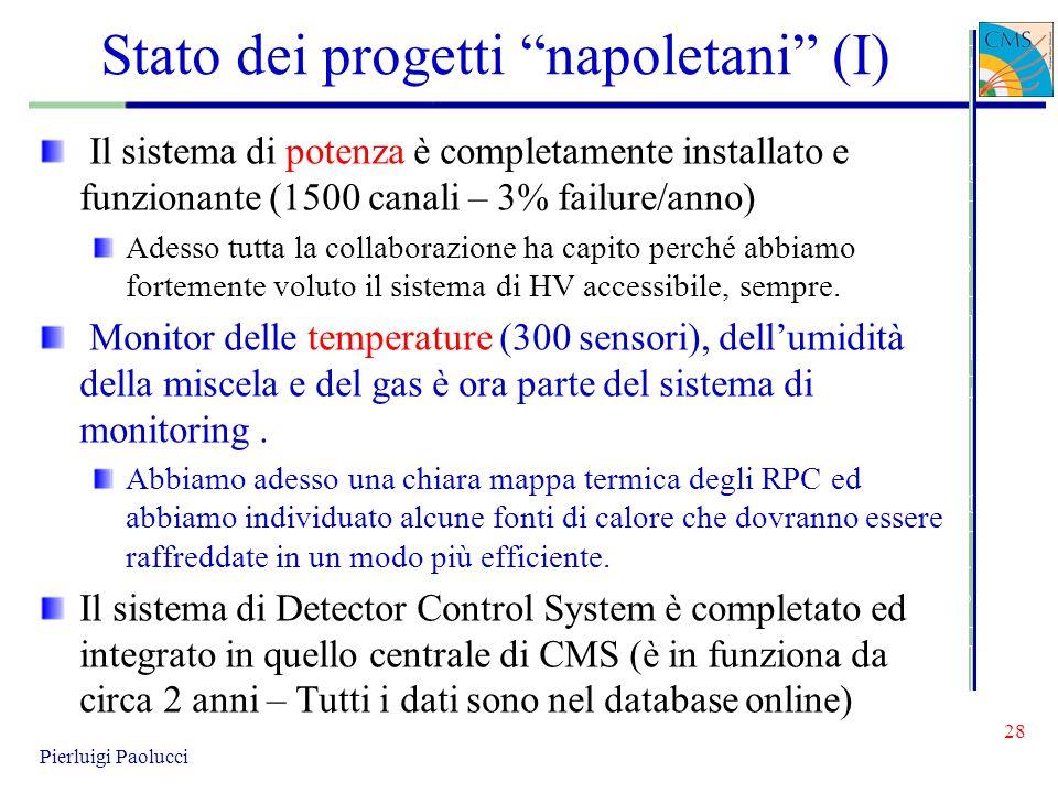 Stato dei progetti napoletani (I)