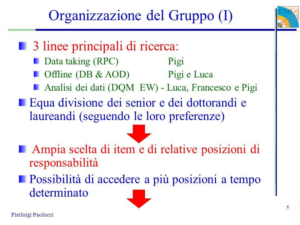 Organizzazione del Gruppo (I)