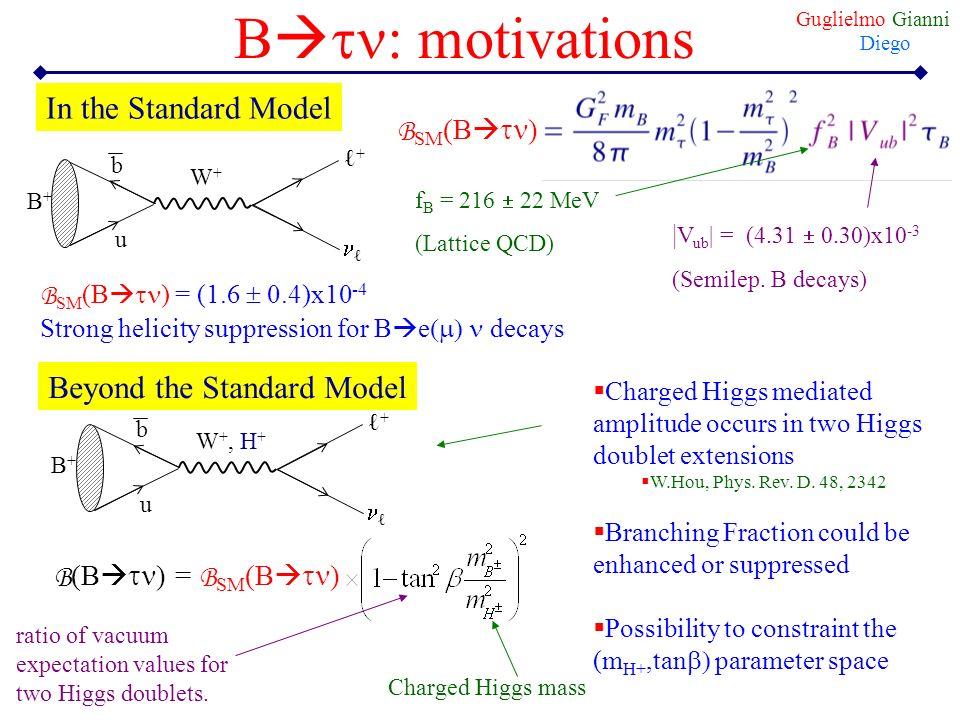 Btn: motivations In the Standard Model Beyond the Standard Model