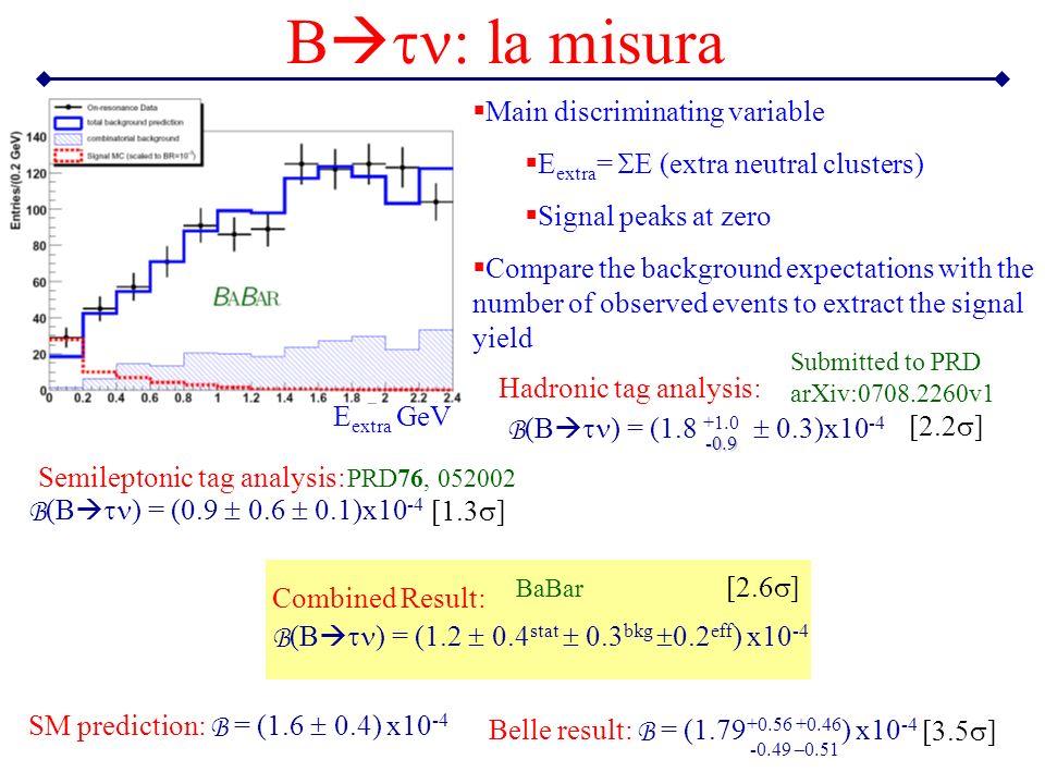 Btn: la misura Main discriminating variable