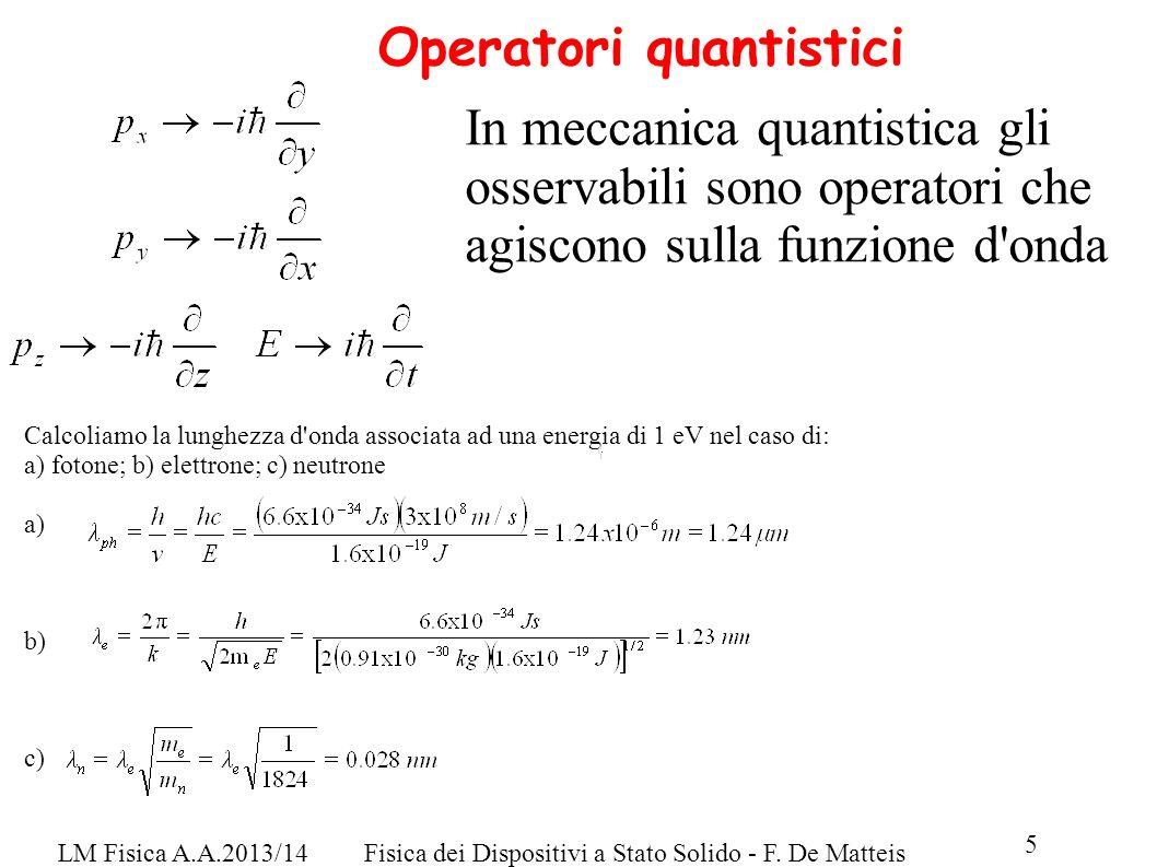 Operatori quantistici