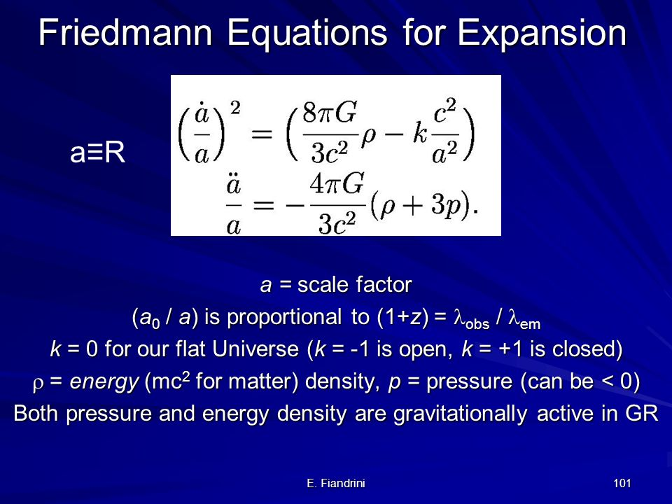 Friedmann Equations for Expansion
