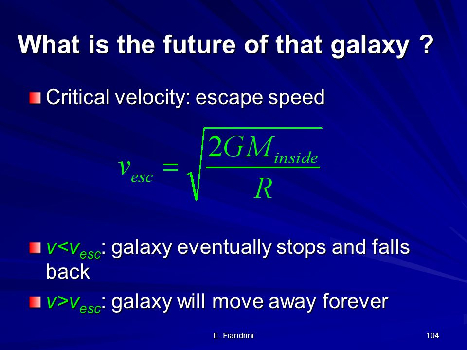 What is the future of that galaxy