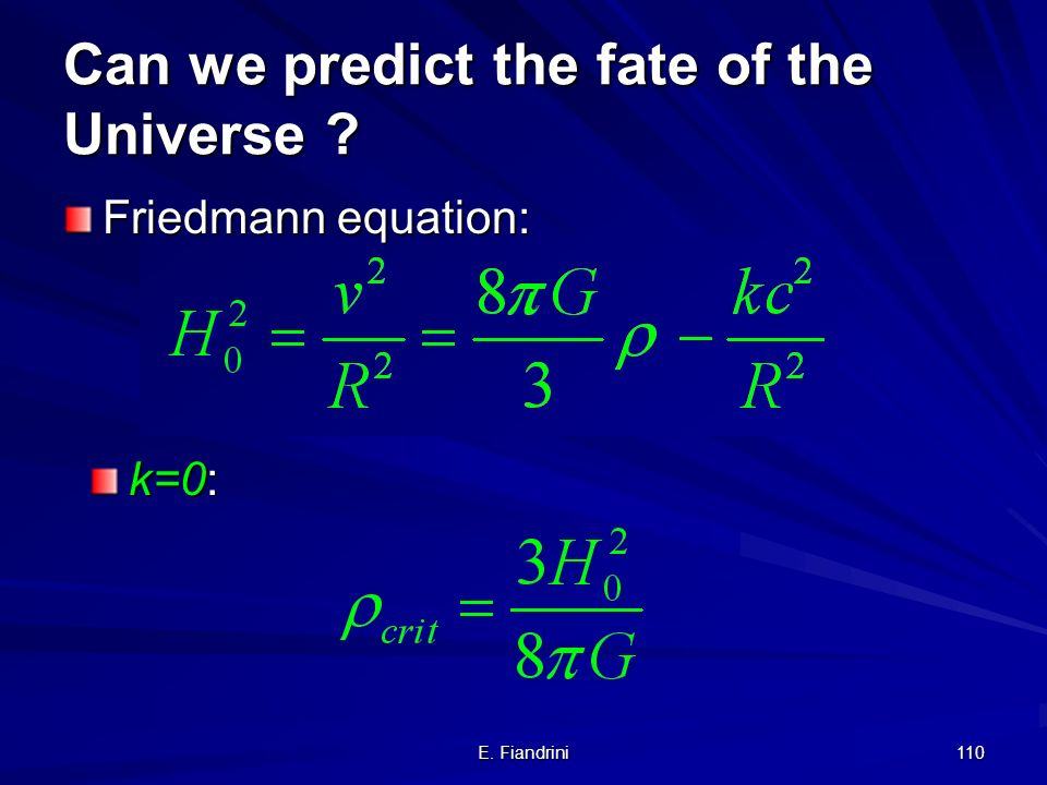 Can we predict the fate of the Universe