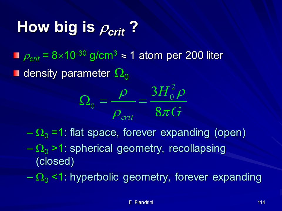 How big is crit crit = 810-30 g/cm3  1 atom per 200 liter