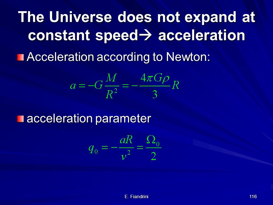 The Universe does not expand at constant speed acceleration