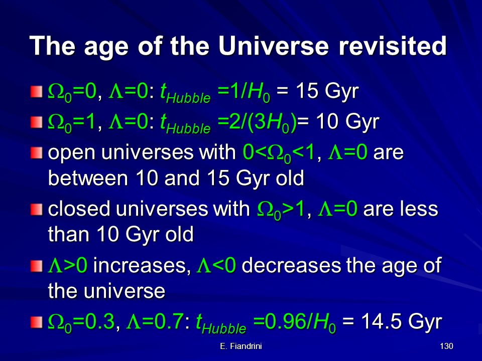 The age of the Universe revisited