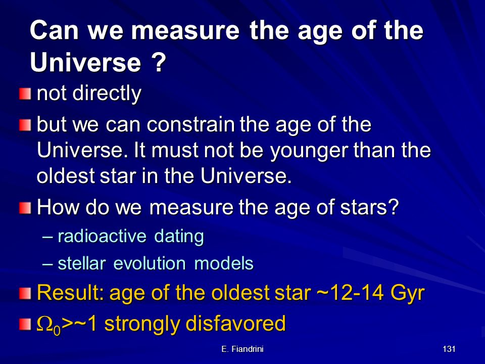 Can we measure the age of the Universe