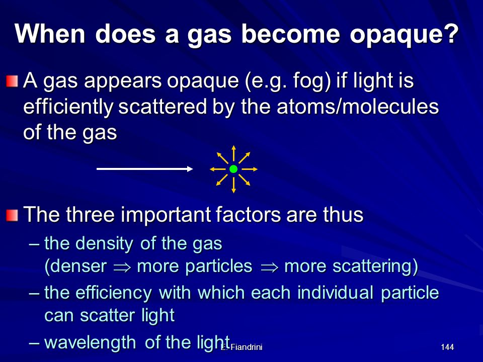 When does a gas become opaque