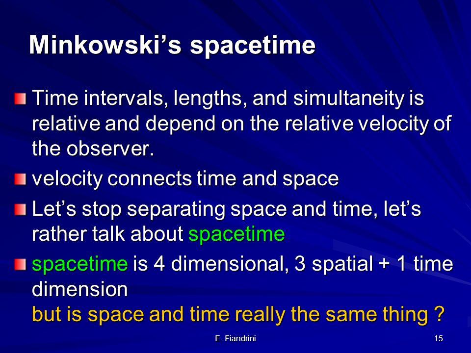 Minkowski's spacetime