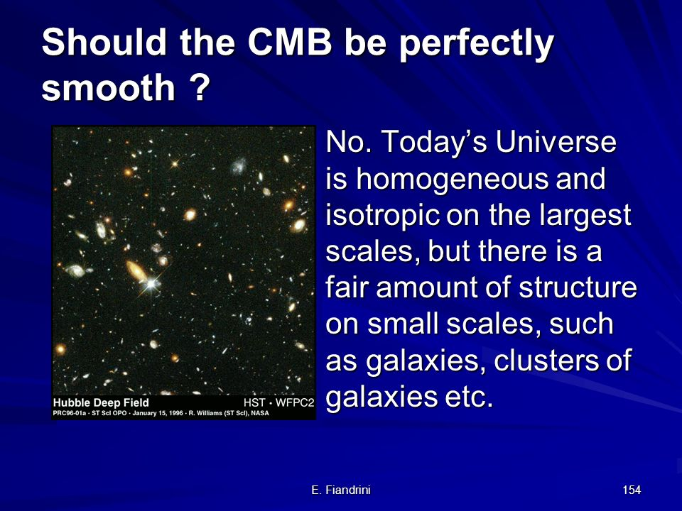 Should the CMB be perfectly smooth