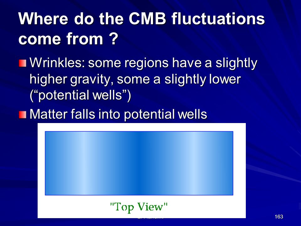 Where do the CMB fluctuations come from