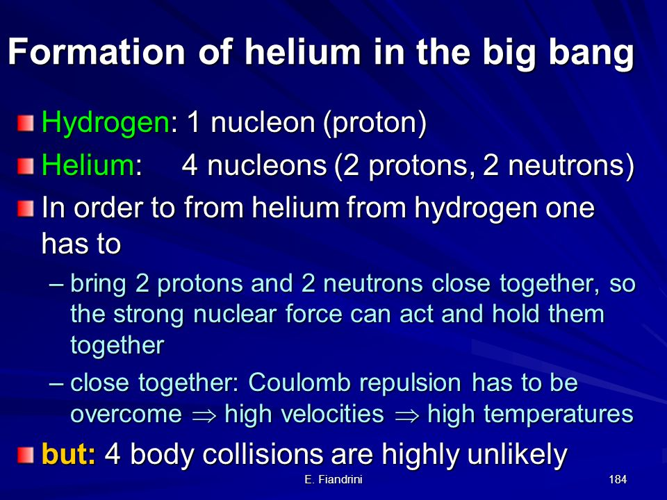 Formation of helium in the big bang