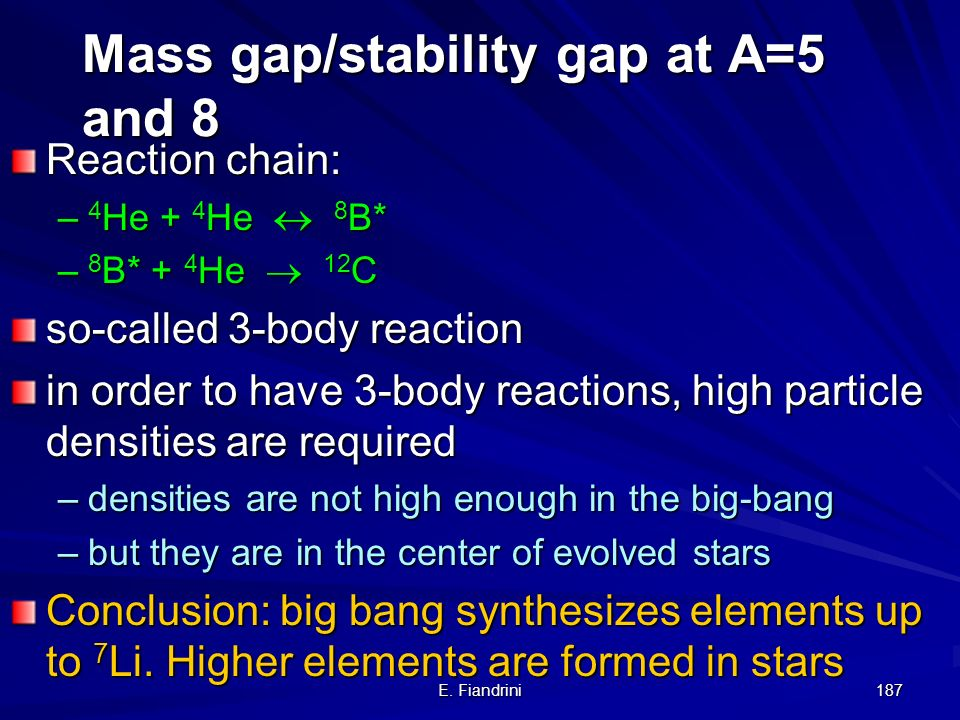 Mass gap/stability gap at A=5 and 8