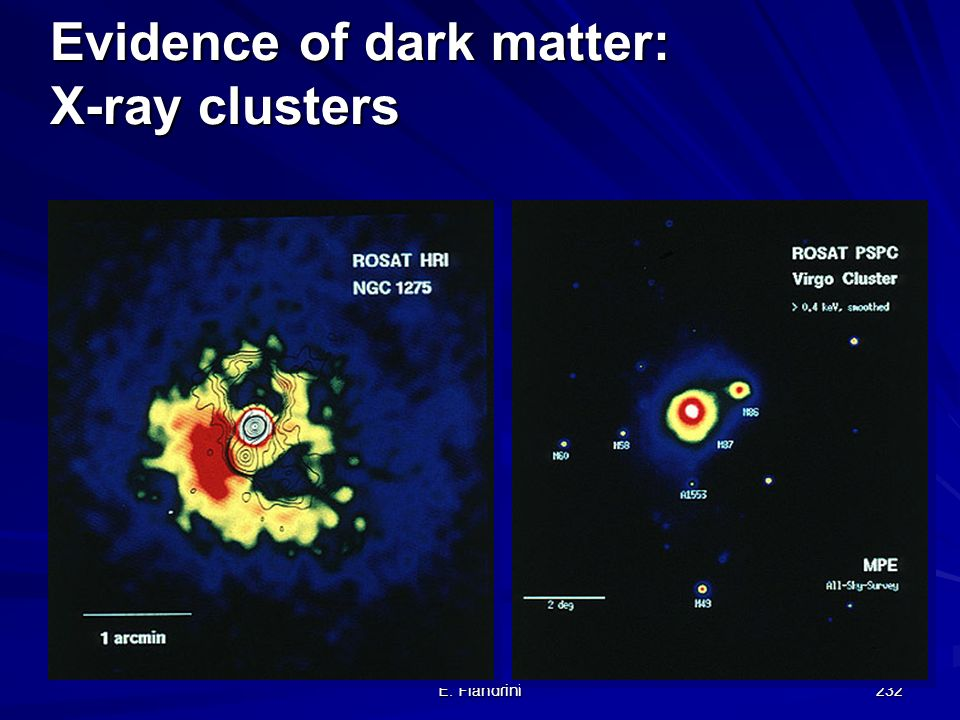 Evidence of dark matter: X-ray clusters