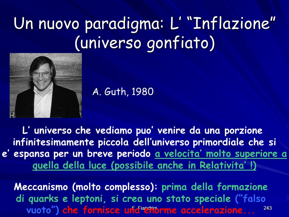 Un nuovo paradigma: L' Inflazione (universo gonfiato)