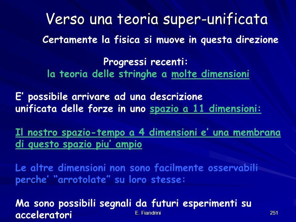 Verso una teoria super-unificata