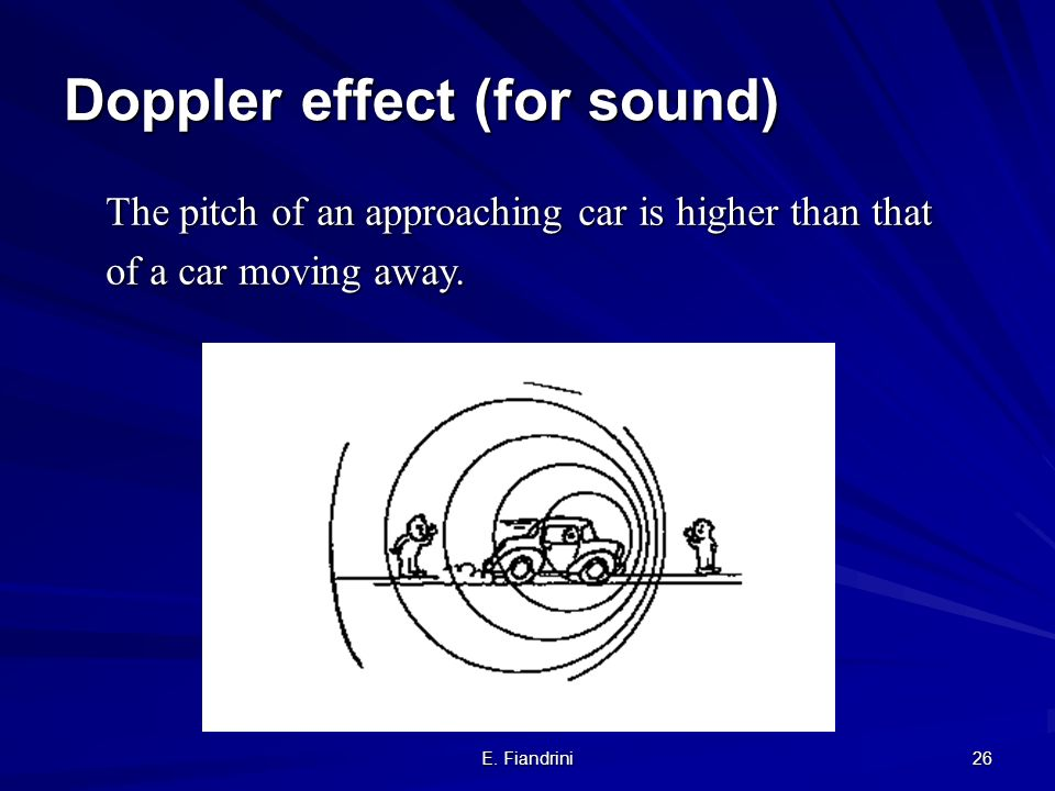 Doppler effect (for sound)