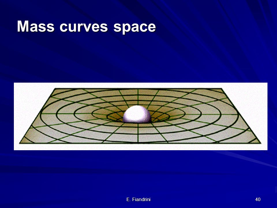 Mass curves space E. Fiandrini