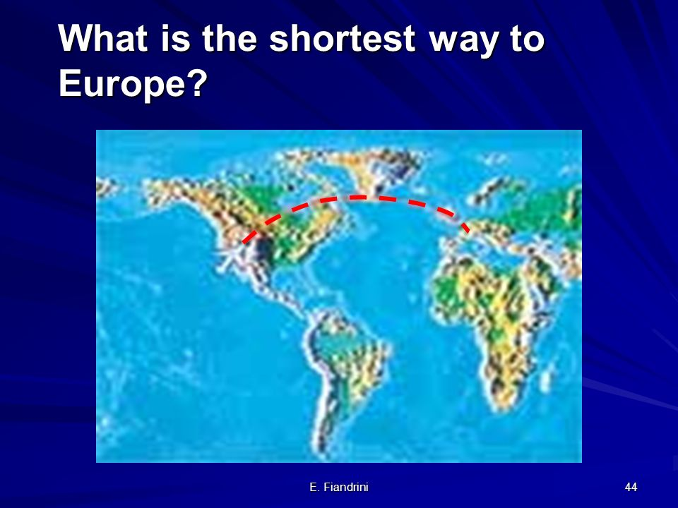 What is the shortest way to Europe