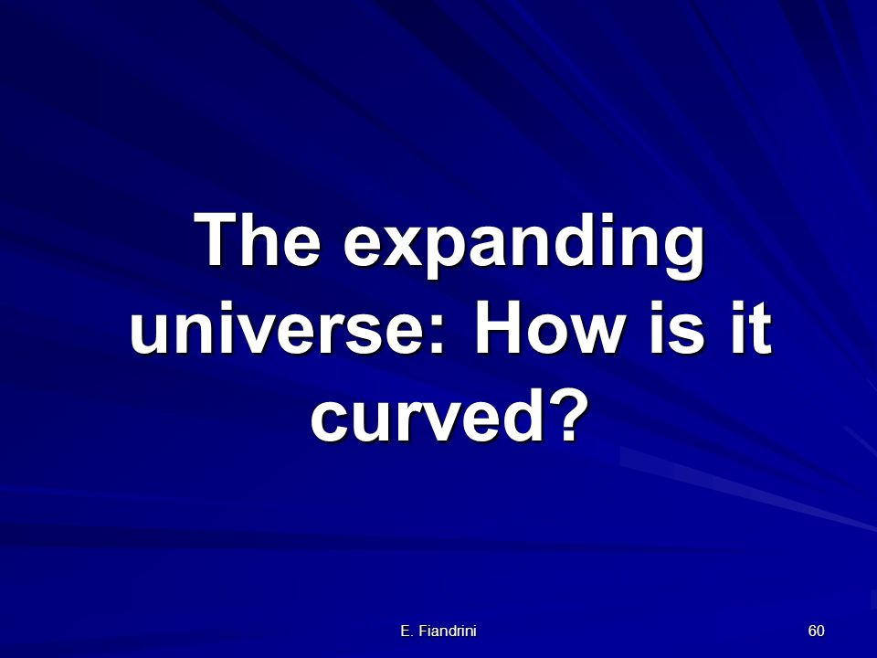 The expanding universe: How is it curved
