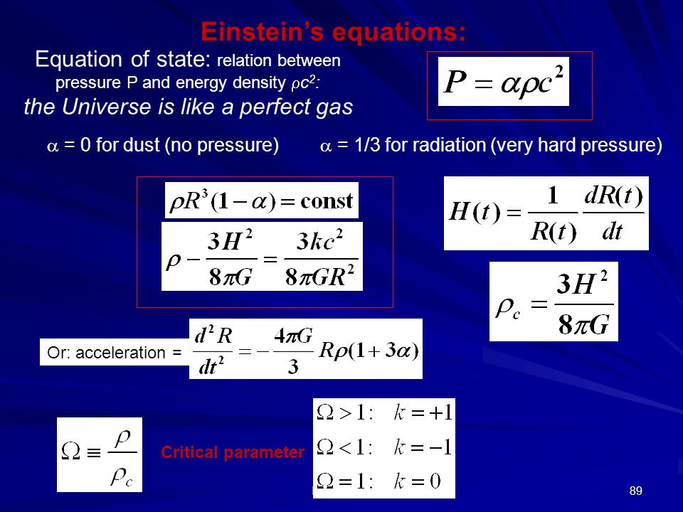 Einstein's equations: