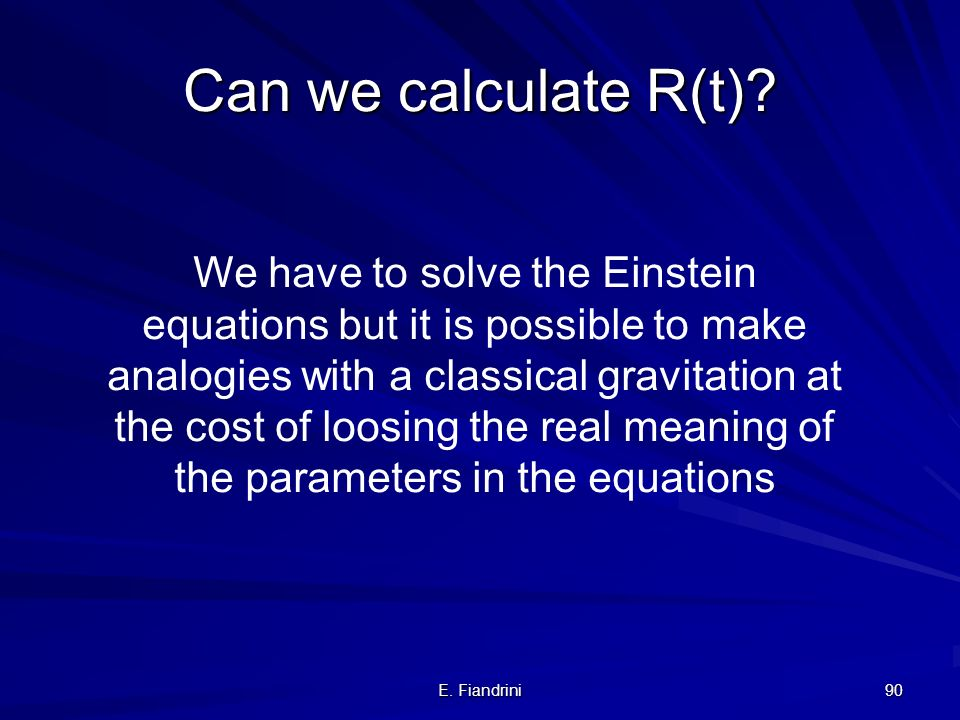 Can we calculate R(t)